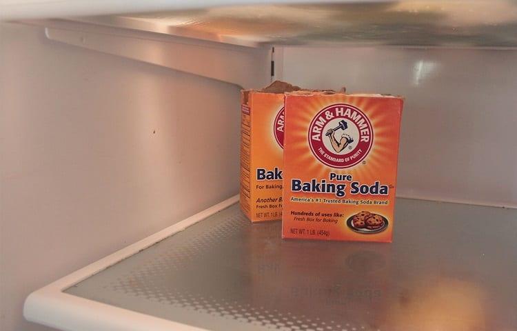 fridge with baking soda in it