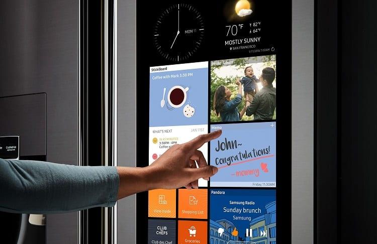 screen with widgets