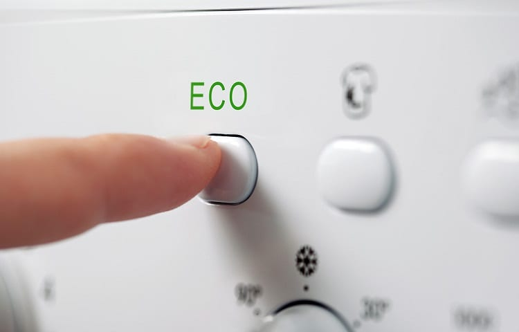 ECO button on washing refrigerator