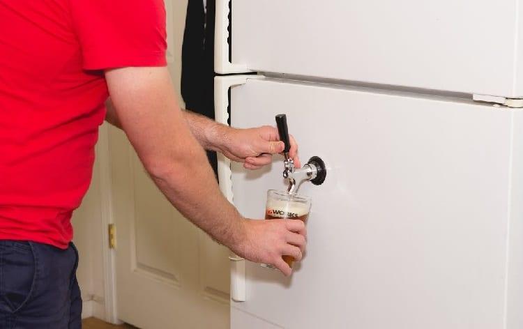 beer pipe on fridge door