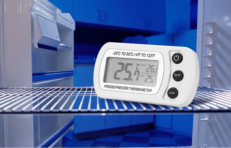 thermometer in fridge