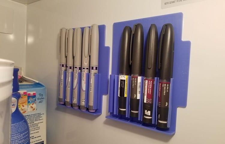 holder for insulin pens in fridge