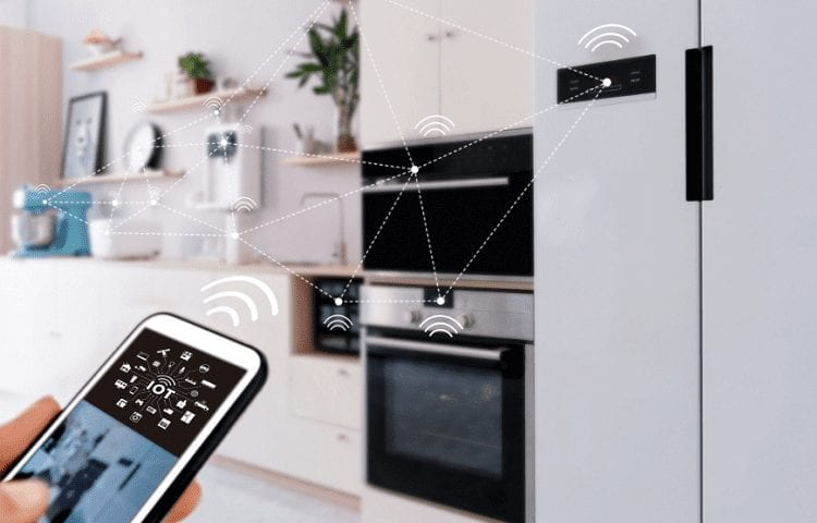mobile phone and smart kitchen