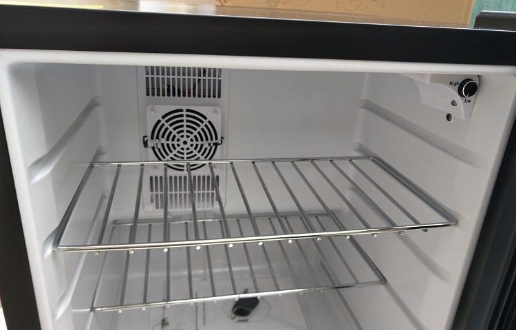 fan in the mini fridge