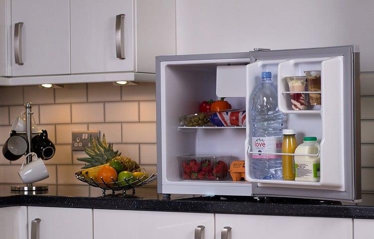 size of mini fridge