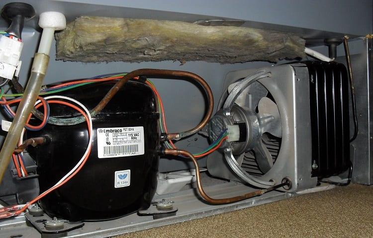 compressor in mini fridge