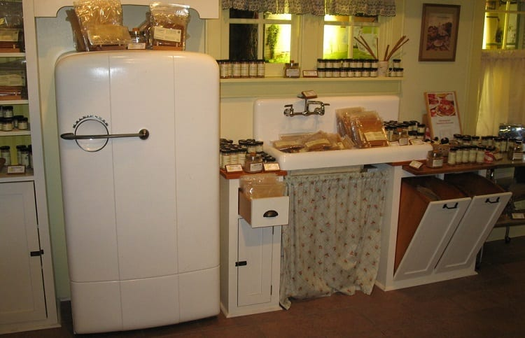 old family refrigerator