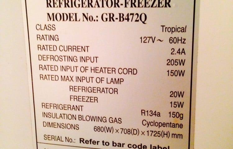 fridge label