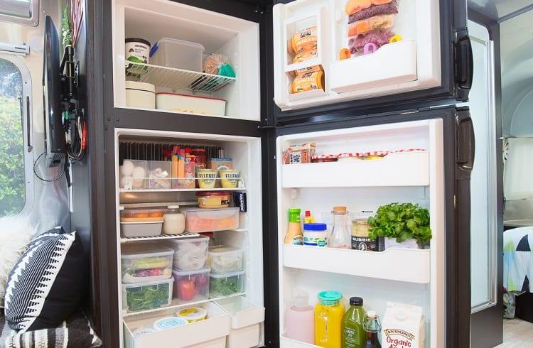 full stacked rv fridge