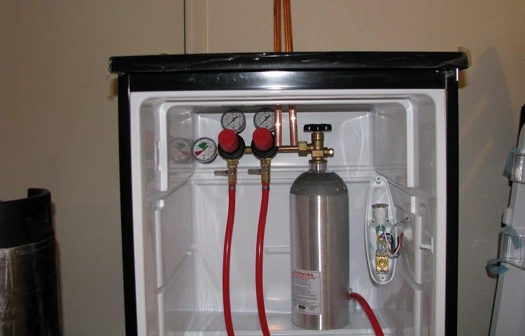 pipes in fridge