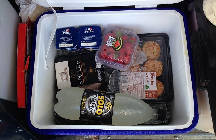cold drinks and snacks for camping