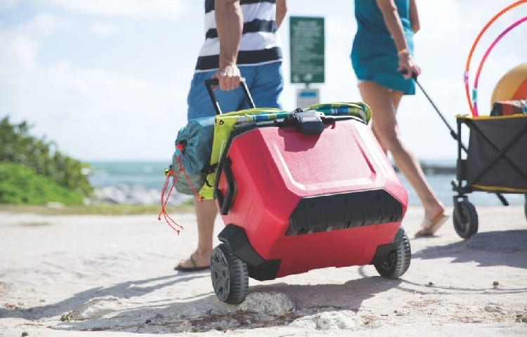 camping cooler with wheels