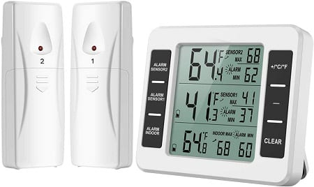 ORIA REFRIGERATOR THERMOMETER WITH AUDIBLE ALARM